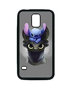 Black, S5 Rubber Case - Stitch Toothless Photo Design Durable Rubber Tpu Silicone Case Cover For Samsung Galaxy S5 i9600