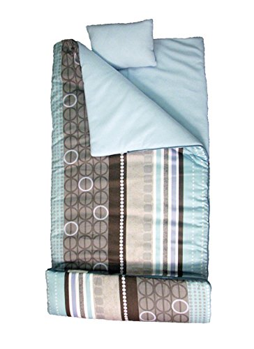 SoHo kids Blue Bonnet children sleeping slumber bag with pillow and carrying case lightweight foldable for sleep ()