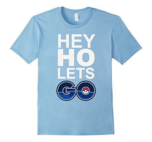Men's Hey Ho Lets Funny Shirt 3XL Baby Blue
