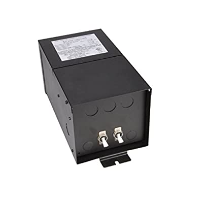 WAC Lighting SRT600M12V Remote Magnetic Transformer 600W, 600W Output 12V with Boost Tap