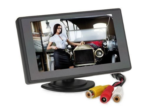 BW 4.3'' Color TFT Car Monitor Support 480 x 272 Resolution + Car Rear-view Mirror System Monitor, Mini Monitor for Car / Automobile ()