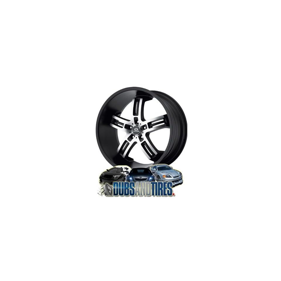 20 Inch 20x10 LORENZO wheels WL26 Matte Black Machined wheels rims
