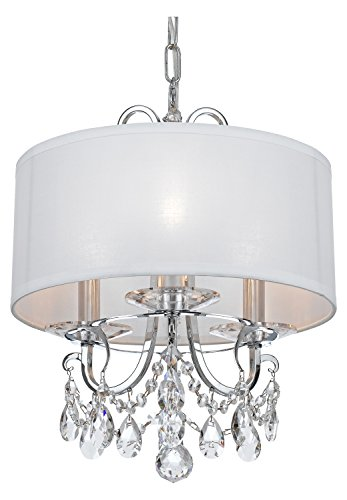 Othello 3 Light Clear Crystal Polished Chrome Mini Chandelier
