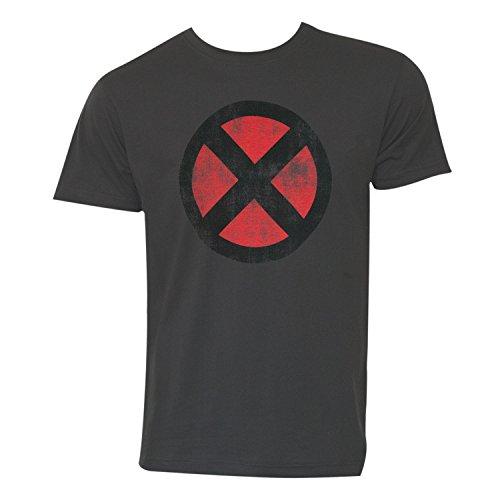 X Men T Shirt - Marvel Comics X-Men Logo Men's Charcoal