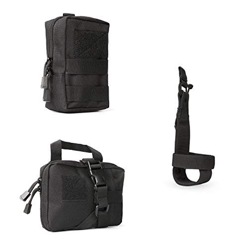 JASGOOD Tactical Molle Pouches Multi-Purpose EDC Military Nylon Waist Pack Utility Bag Detachable Patches/Pouches for Dog Vest Harness