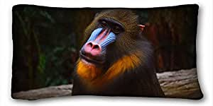 "Custom Cotton & Polyester Soft Animal DIY Pillow Cover Size 20""X36"" suitable for Twin-bed"