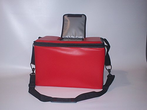 TCB Insulated Bags HWK-2D-Red Food and Beverage Carriers: Hawking Vending Bag with Dispensing Lid, 13'' x 22'' x 14'', Red by TCB Insulated Bags