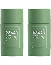 Diepe reiniging maskm, Groene thee crème, 2 stks Groene Thee Zuiverende Klei Stok Masker Olie Controle Effen Masker Diepe Reiniging Hydraterende Masker