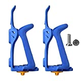 Basecamp Bike Water Bottle Cage, Adjustable Flexible Sport Plastic Drink Cup Cycling Bicycle Mountain Bike Accessories Water Bottle Holder Mount Rack Cage Pack of 2(Blue)