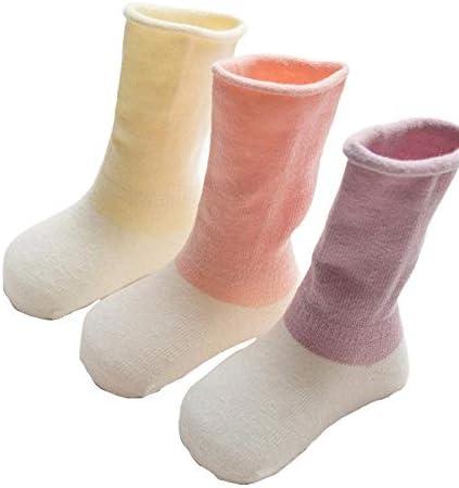 Sueng Lot de 3 paires de chaussettes longues en coton assorties Motif dessin anim/é automne et hiver