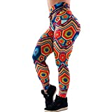 BNisBM Women's Stretchy Digital 3D Printed Leggings Footless Tights Yoga Pants Sports Fitness Running Pants