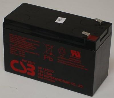 CSB GP1272F2, 12 Volt/7.2 Amp Hour Sealed Lead Acid Battery