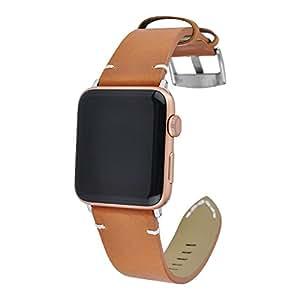 Gaowen Leather Watch Strap Bracelet Wrist Band For Apple Watch 1/2/3 (E, 38MM)