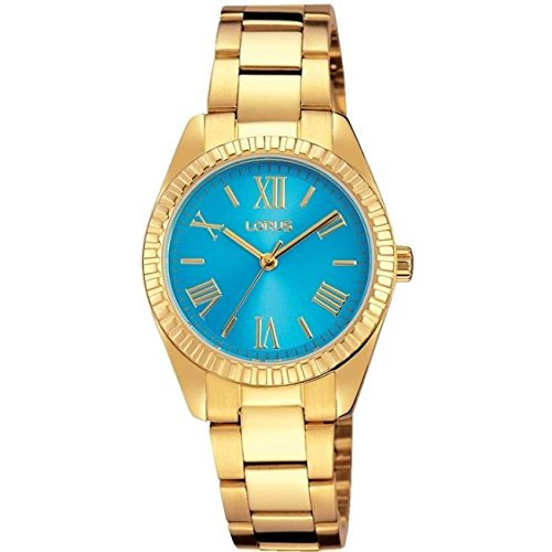 Lorus Ladies Blue Dial Gold Plated Watch
