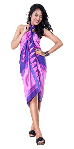1 World Sarong Mujeres Abstracto Tiki – Bañador de Cover-Up Pareo 5