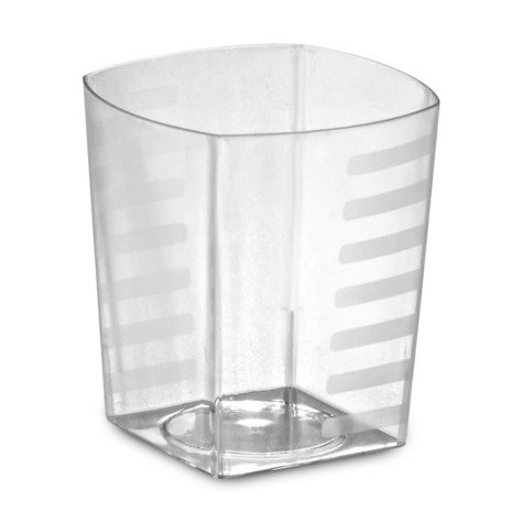 EMI Heavyweight 9 oz Disposable Plastic Square Tumblers Crystal Clear Rock Tumblers, Squat Tumblers, Tall Tumbler Glasses 168 Glasses, Party Cups Punch Ice Tea Cups (9 oz)