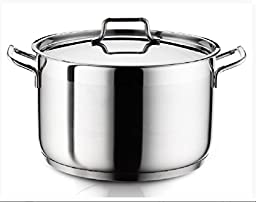 Ybm Home Stainless Steel Stockpot with Lid H21 (21 Quart)