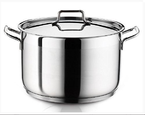Ybmhome Classic Stainless Steel Chef's Induction Compatible Stockpot Covered Multi-Purpose Cookware with Encapsulated Base H8 (8 Quart)