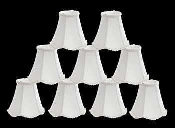 Urbanest 1100255d Scallop Chandelier Mini Shade 6-inch, Clip On, Off White (Set of 9)