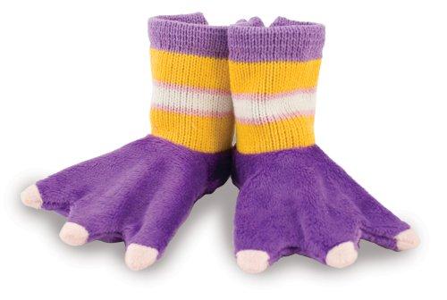 Rich Frog Beastly Baby Booties - Purple Birdie Slipper Socks