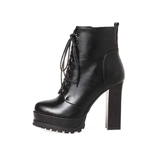 Plano Heel Delantero Armygreen Otoño Impermeable Eur Botas Pu High Antideslizante Artificial Cordón 42 Rough Mujer Red Nvxie 8 Exterior Eur38uk55 5 Black Invierno uk xq6wXAn