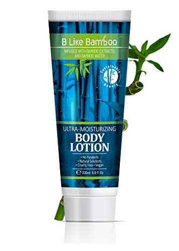 B Like Bamboo Ultra-Moisturizing Body Lotion with Organic Aloe Vera | Nourishing Soothing Natural Body Cream | Sensitive and Dry Skin Moisturizer for Women and Men | Vegan | Cruelty Free (6.8 oz) (Aloe B)