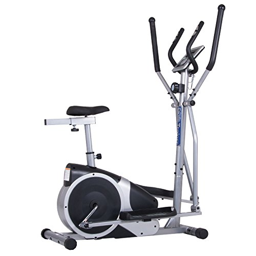 Body Champ Magnetic Cardio Dual Trainer – Elliptical and Upright Exercise Bike BRM2720