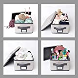 Foldable Storage Boxes with Lids | Shoebox Size