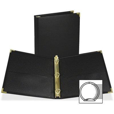 Classic Collection Ring Binder, 11 x 8-1/2, 1-1/2'' Capacity, Black 1'' Capacity/Black