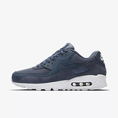 Nike Herren Air Max 90 Essential Dunkelblau Leder/Synthetik/Textil Sneaker 40 EU, Dunkelblau (Diffused Blue/White)