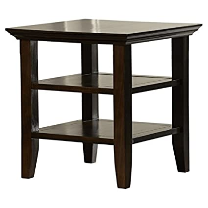 Horace End Table, Contemporary Side Table, Tobacco Brown