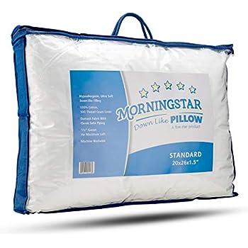 Amazon Com Mastertex Down Alternative Bed Pillow Cotton