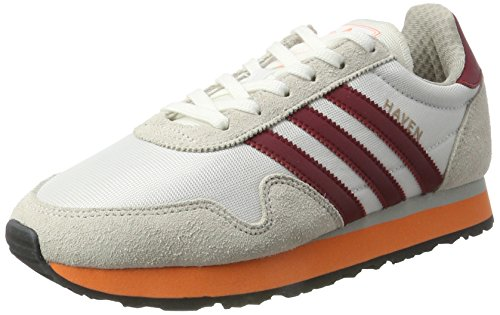 adidas Haven, Entrenadores Bajos para Hombre Multicolor (Ftwr White/collegiate Burgundy/easy Orange)