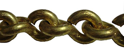- BRASS BLESSING : 35 feet Marine Solid Brass Chain -14 Gauge - 1.6 mm - Heavy Weight (5215)