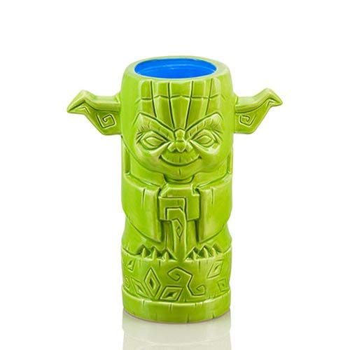 Ceramic Yoda (ThinkGeek Geeki Tikis Yoda 14-Ounce Ceramic Drinking Mug - Officially-Licensed Star Wars Merchandise)