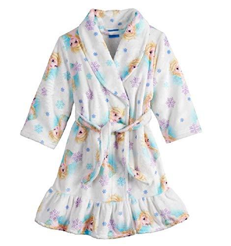 r Frozen Elsa Luxe Plush Robe, Snowy White, 3T ()