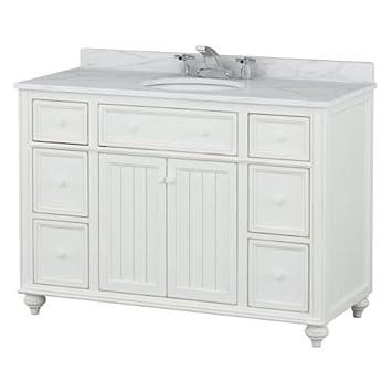Sagehill Designs CR4821DN Cottage Retreat 48u0026quot; Bathroom Vanity Cabinet  Only With, Designer White