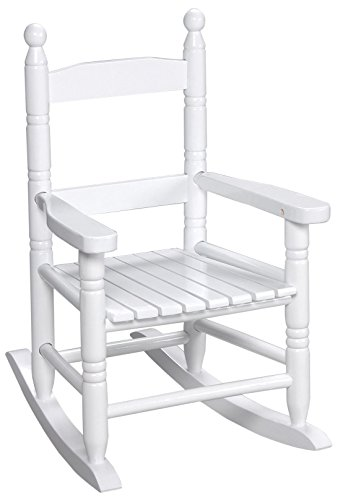 Unfinished Rocking Chairs - Gift Mark Child's Double Slat Back Rocking Chair, White