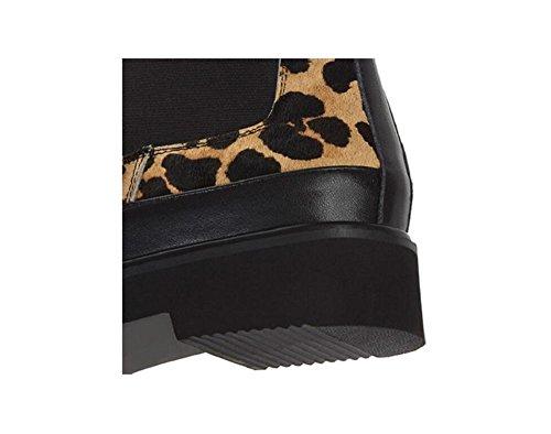 Leopard Martin stivali tondo maniche scarpe basse donna Plus Babbucce in pile , picture color , 39