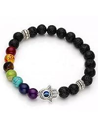 ILOVEDIY Retro Women and Men 7 Stone Chakra Prayer Bead Bracelet 6 Style Fashionable