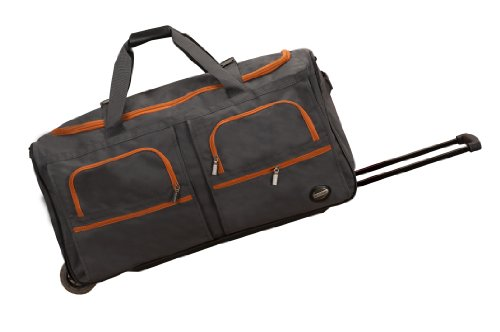 Rockland Luggage 30 Inch Rolling Duffle, Charcoal, One Size ()