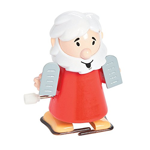 (Fun Express - Wind Up Moses and Ten Commandments - Toys - Character Toys - Wind Ups & Paratroopers - 12 Pieces)