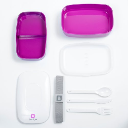 Bentgo All-in-One Stackable Lunch/Bento Box, Purple