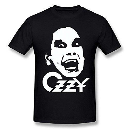 Next Style Men's Black Sabbath Vocals Ozzy Osbourne Name Logo Portrait Poster Black (Cool Names For A Halloween Party)