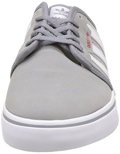 White Adulte Mixte Seeley scarlet Chaussures Skateboard Adidas De Gris footwear grey Swz7qXS