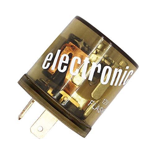 BORUD Flasher Relay, 12V Electronic Turn Signal Flasher Relay Heavy Duty Automotive Relay 2 Pin LED Compatible Electronic Fixed (Heavy Duty Electronic Flasher)