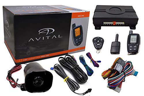 AVITAL 3305L 3305L Responder 2-Way Security System with 4-Button LCD Remote