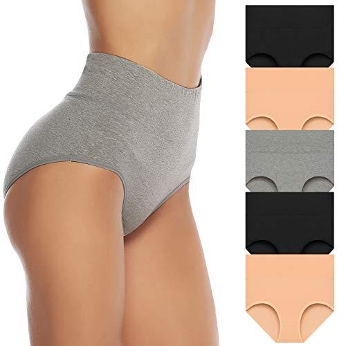 超柔软透气天然棉制成,高腰内裤裹住腰腹更舒适