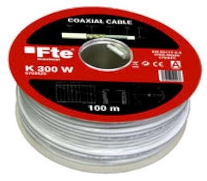 Fte-maximal k 300 w - Cable coaxial 750h diámetro 4,6 k300w lszh