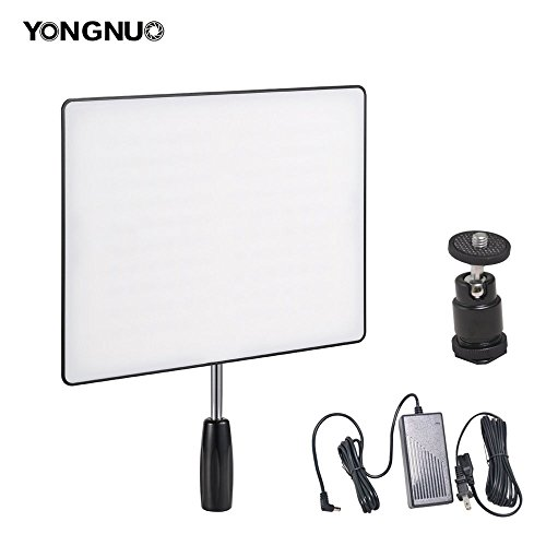 Yongnuo YN600 Air Camera / Camcorder LED Video Light CRI95+ 5500K Portable Continuous Lamp + 60W Power Supply and Ball Head for Canon Nikon Sony Panasonic Wedding Interview Youtube Studio Panel by Bestshoot